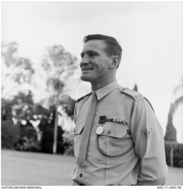 Picture sourced from the Australian War Memorial website of Alan after receiving the Distinguished Conduct Medal (DCM). https://www.awm.gov.au/collection/MAS/71/0083/NC/